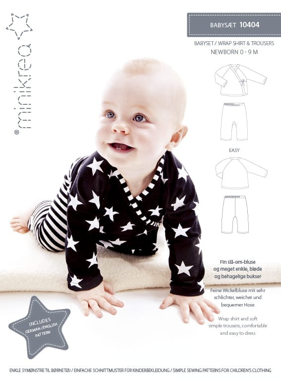 10404 Wrap Shirt And Trousers Paper Pattern Minikrea