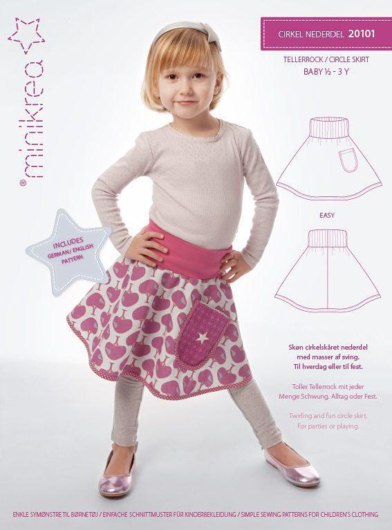 20101 Circle Skirt - paper pattern | Minikrea