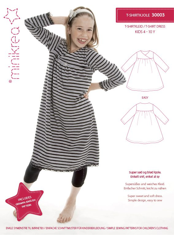 30003 T-shirt Dress - paper pattern | Minikrea