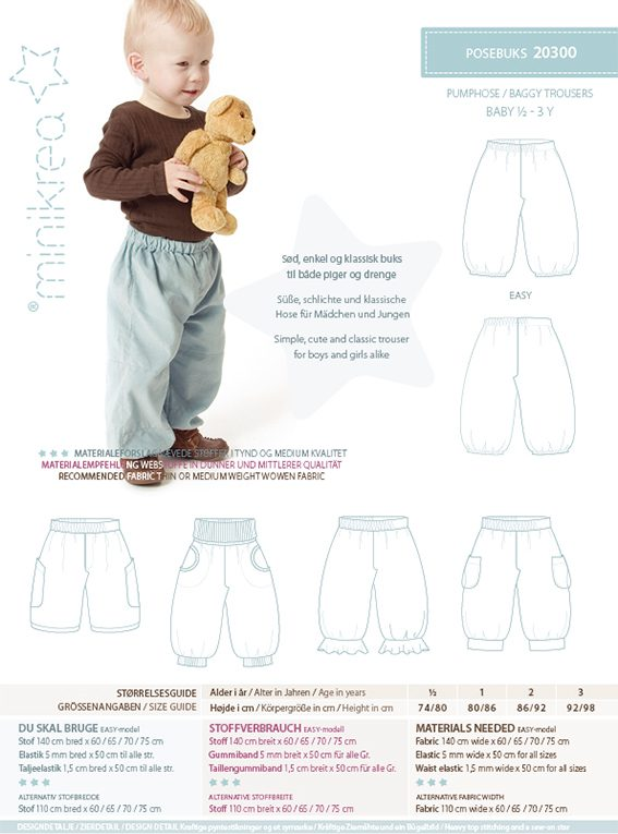 ee3f6ea0af7df 11409 Footed Trousers & Shirt - paper pattern | Minikrea