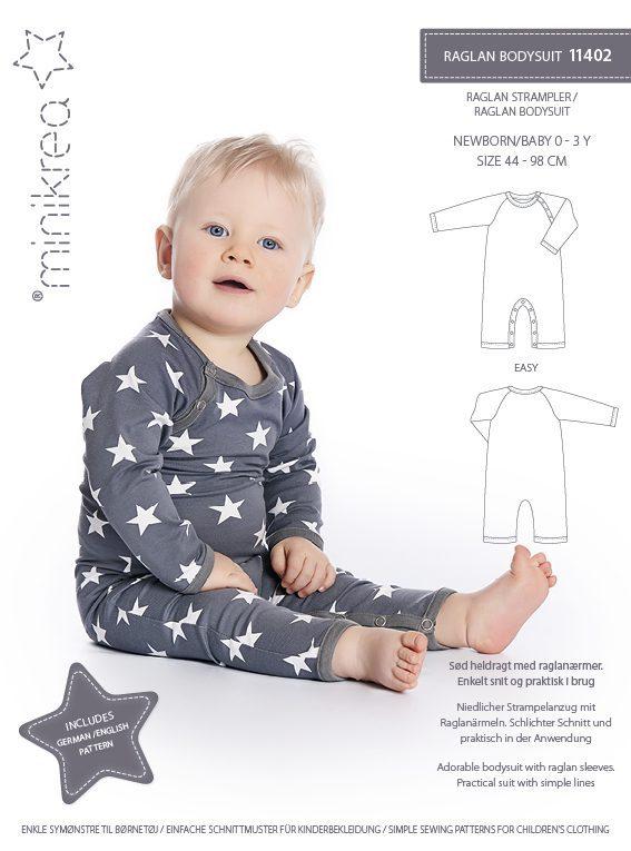 11402 Raglan bodysuit - paper pattern | Minikrea