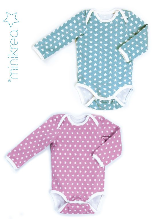Babybody 11411 MiniKrea eksempler på sy selv bodyer til drenge og piger