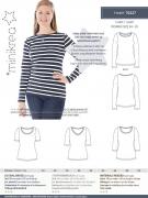 T-shirt 70227 til damer MiniKrea symønster