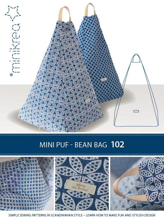 102 Mini Puf Bean Bag Sewing Instruction Minikrea