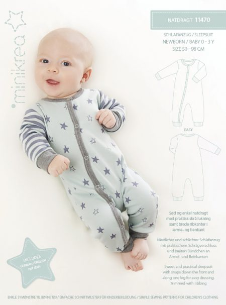 MiniKrea 11470 Sleepsuit Sewing Pattern
