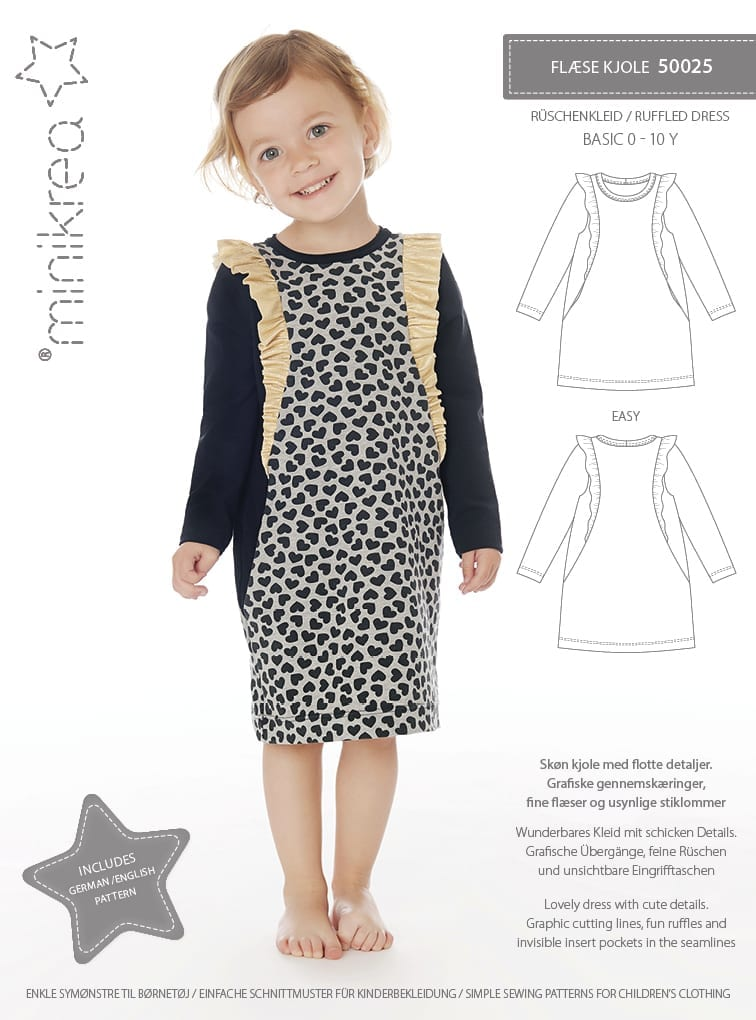 50025 Ruffle Dress - Paper Pattern | Minikrea