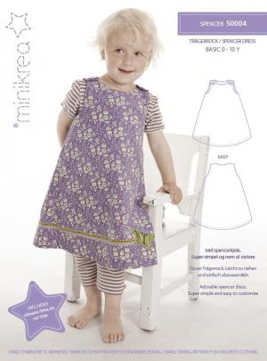 Spencer kjole til piger i alderen 0-10 år du selv kan sy.