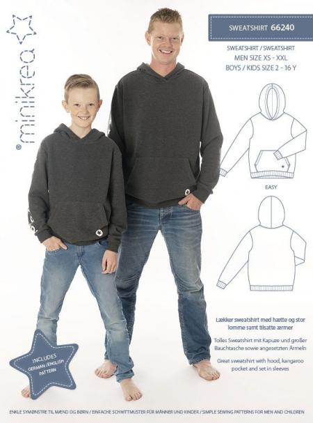 Sweatshirt 66240 MiniKrea symønster