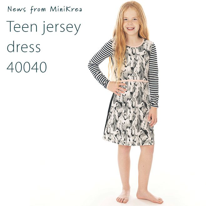 News Teen Jersey Dress 40040 MiniKrea