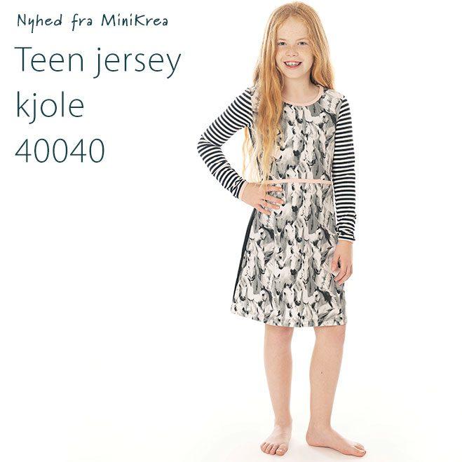 Teen Jersey Kjole 40040 MiniKrea