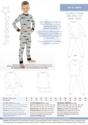 MiniKrea Pyjamas 33470 Stylecard