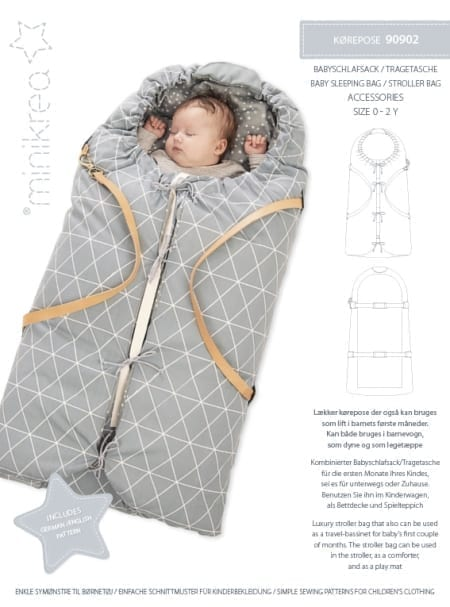 MiniKrea 90902 Baby Sleeping Bag Sewing Pattern