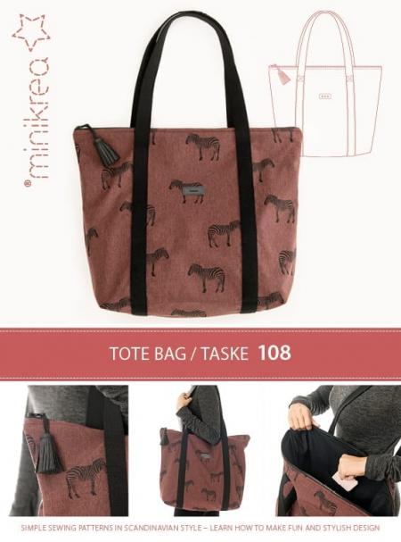 108 Tote bag - taske med lynlås