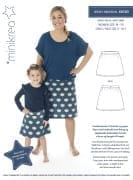 MiniKrea 66140 Jersey nederdel symønster