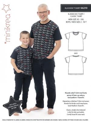 MiniKrea 66210 Klassisk T-shirt - symønster