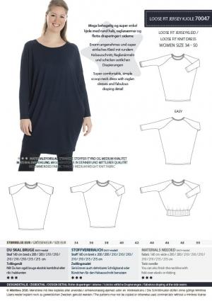 MiniKrea 70047 Loose fit jersey kjole - stylecard