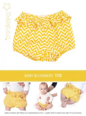 MiniKrea 110 Baby Bloomers med flæse