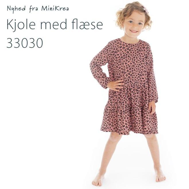 MiniKrea 33030 Kjole med flæse_Nyhed