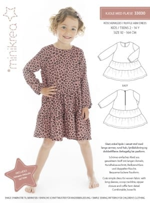 MiniKrea 33030 Ruffle Hem Dress Sewing Pattern