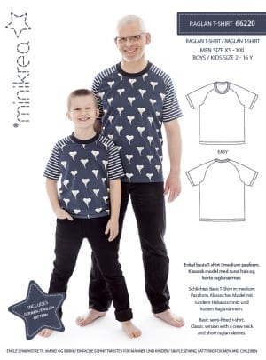 MiniKrea 66220 Raglan T-shirt Sewing Pattern