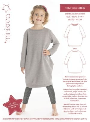MiniKrea 33040 Sweat Dress Sewing Pattern