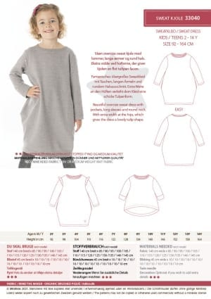 MiniKrea 33040 Sweat Dress Stylecard