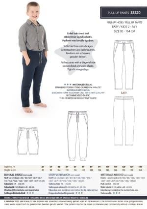 MiniKrea 33320 Pull Uo Pants Stylecard