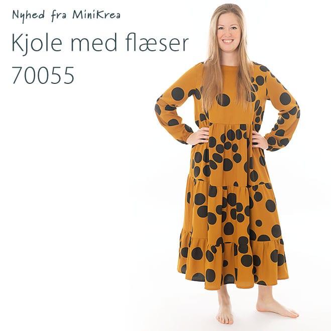MiniKrea 70055 Kjole med flæser Nyhed