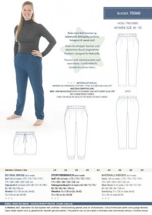 MiniKrea 70360 Trousers Stylecard