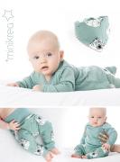 MiniKrea 11430 Baby set with bandana bib_ Collage