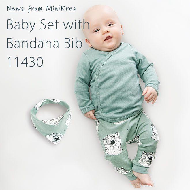 MiniKrea 11430 Baby set with bandana bib_News