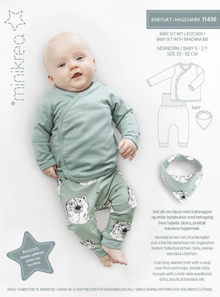 MiniKrea 11430 Baby set with bandana bib_Sewing pattern