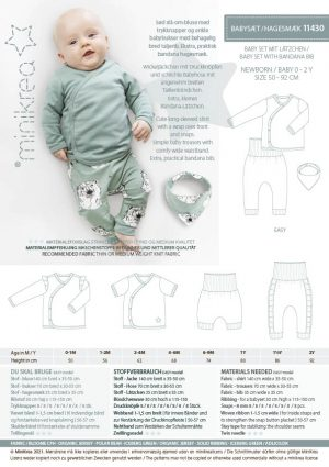 MiniKrea 11430 Baby set with bandana bib_Stylecard