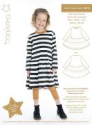 MiniKrea 33015 Jesey Ruffle Hem Dress_Sewing pattern