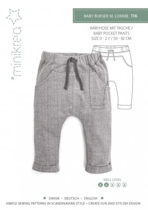 MiniKrea 116 Baby Pocket pants_Forside