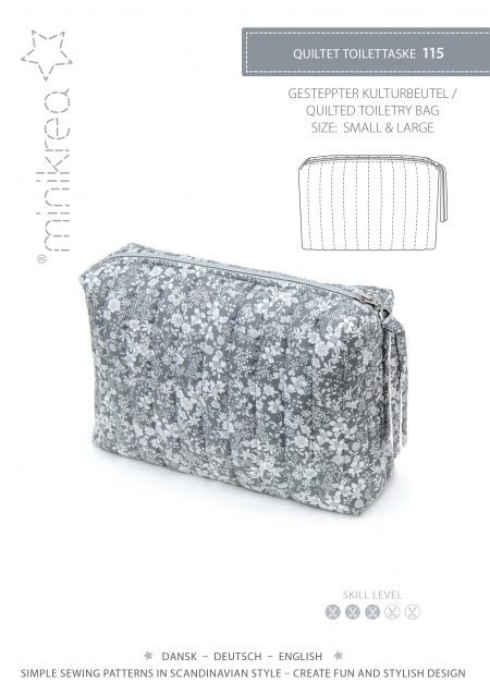 MiniKrea 115 Quilted Toiletry Bag_Forside